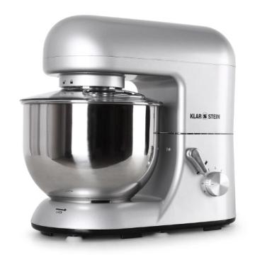 Klarstein TK2-Mix8-S Bella Argentea Küchenmaschine 1200 W, 5 Liter - 5 Teigknetmaschine Vergleich
